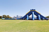 Adult giant the biggest mega HIPPO inflatable water slide for sale