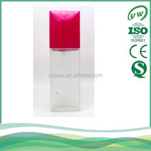 frosted perfume bottle with rose cap for distribution