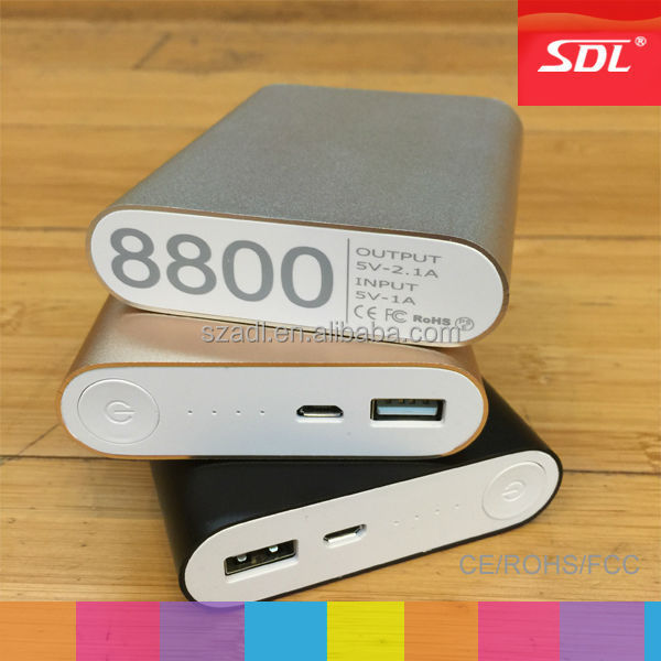 SDL factory power bank samsung battery 10400mah black silver golden