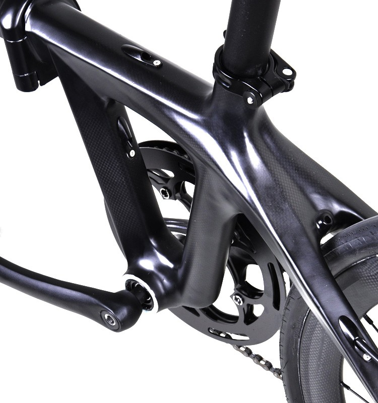 Dengfu full carbon fiber folding road bike carbon fiber bike 20inch Carbon folding Bicycle