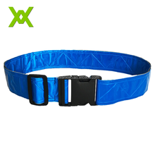 Waterproof Sports Fluo Blue Adjustable High Visibility PVC Safety Reflective Running Belt With Removable Buckle