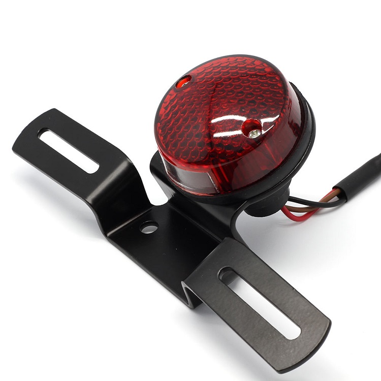 CH-2013-2 Chenghao Round LED Tail Light Motorcycle License Mount Holder Universal Fit for bikes or motorbik