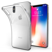 2018 Phone Case 0.3mm 0.55mm 1.0mm Transparent Anti-Shock High Quality Phone Case For iPhone X Case