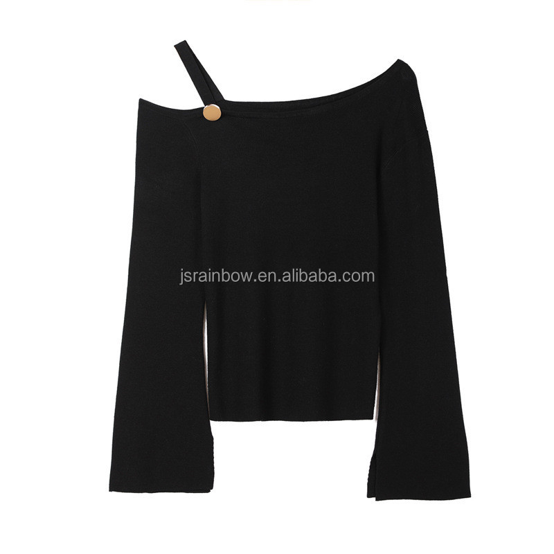Fashion off shoulder sweater sexy woman sweater knit sweater