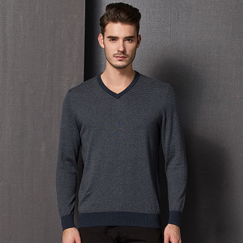 mens stripes v neck pullover sweater,fashion mens pullover