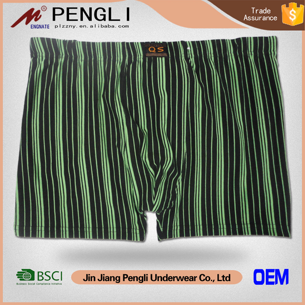 New Fashion desgin stripe yarn dye men underwear slip