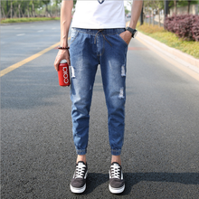 Broken men's jeans jeans loose tight pants trousers large size jeans male wholesale