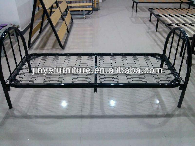 Metal cama individual con base de primavera camas for Base de cama individual