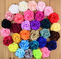 Satin singed burning rose flower - artificial silk fabric chiffon flowers wedding hair accessories Wholesale hair accessories