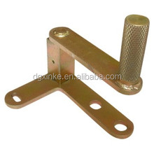 Copper color finish carbon steel casting rotatory hinge shaft for adjustable folding canopy