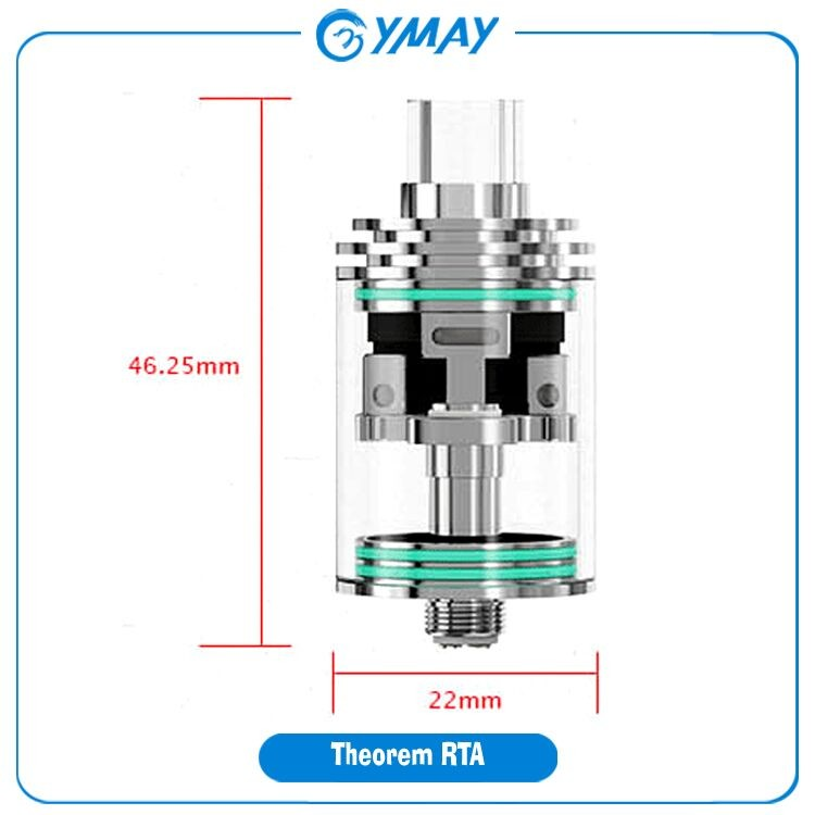 USA Top Selling for RTA Tank Wismec Theorem Tank, Wismec Theorem RTA, Wismec Theorem Atomizer from OYMAY 2016