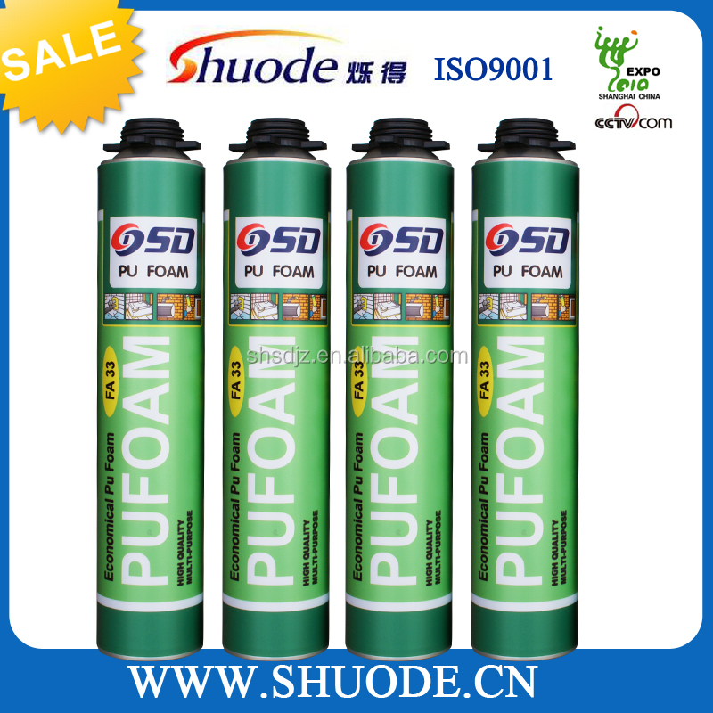 750ml cheap spray pu foam raw materials