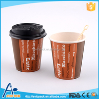 Latest design letter pattern aircraft paper coffee cup with lid