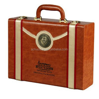 Wine Bag With Handle Leather and Wooden Box Gift Box For Promotion