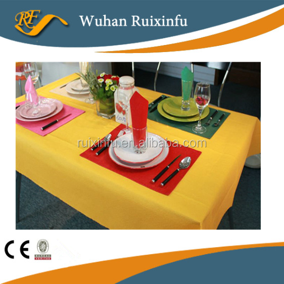non woven pp tablecloth dining table cover disposable