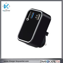 2USB Wall Qualcomm QC3.0 Approval Travel QC Mobile Specifications Charger