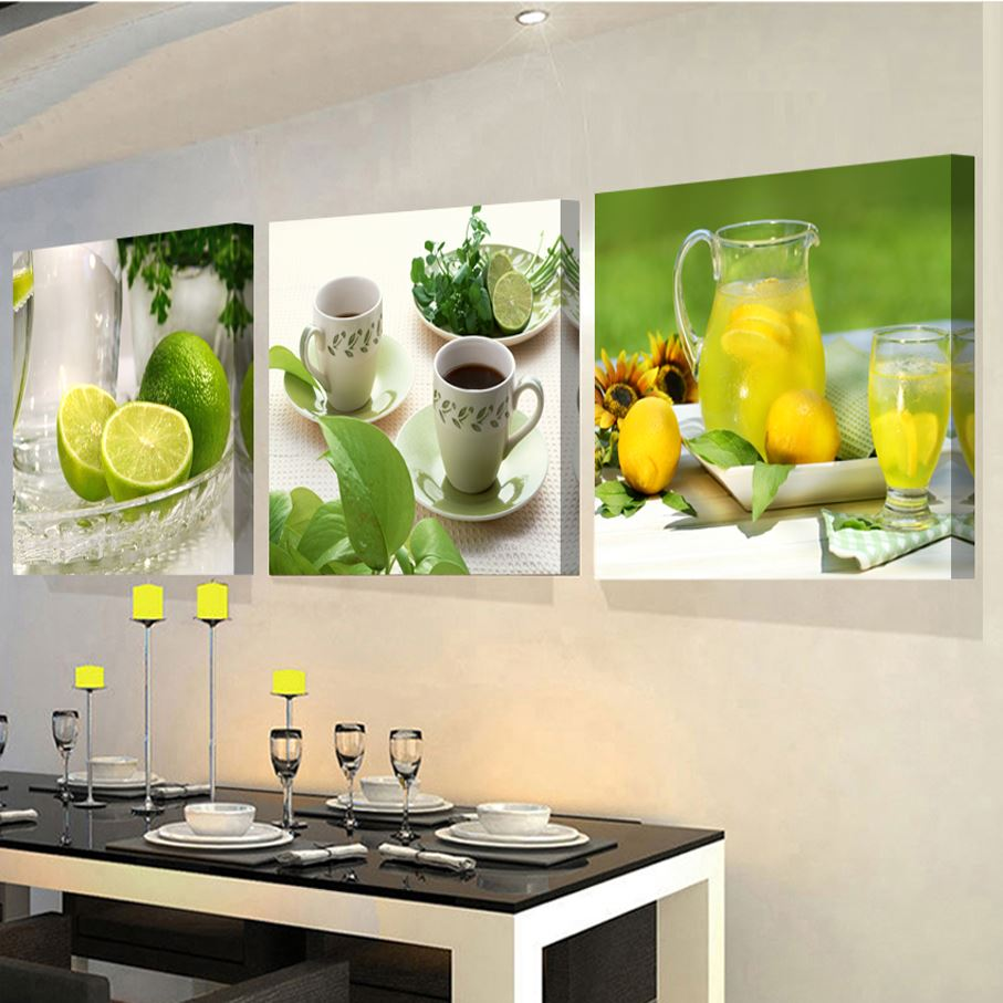 3 Panels paintings for the kitchen fruit wall decor modern canvas art wall <strong>pictures</strong> for living room descorative <strong>pictures</strong>