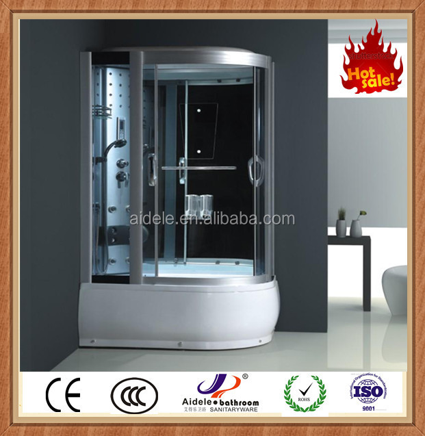 prefab free standing fashion design good quality comfortable deluxe steam shower box