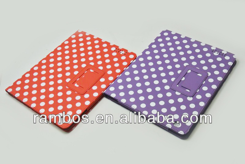 Folio Smart Polka Flip Case Tablet Flip Case with Polka Dots Cover for iPad 2 3 4