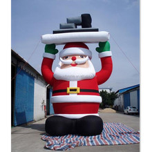 Event Advertising Decoration Christmas Pine Tree Inflatable Santa Claus With Giant Size A112