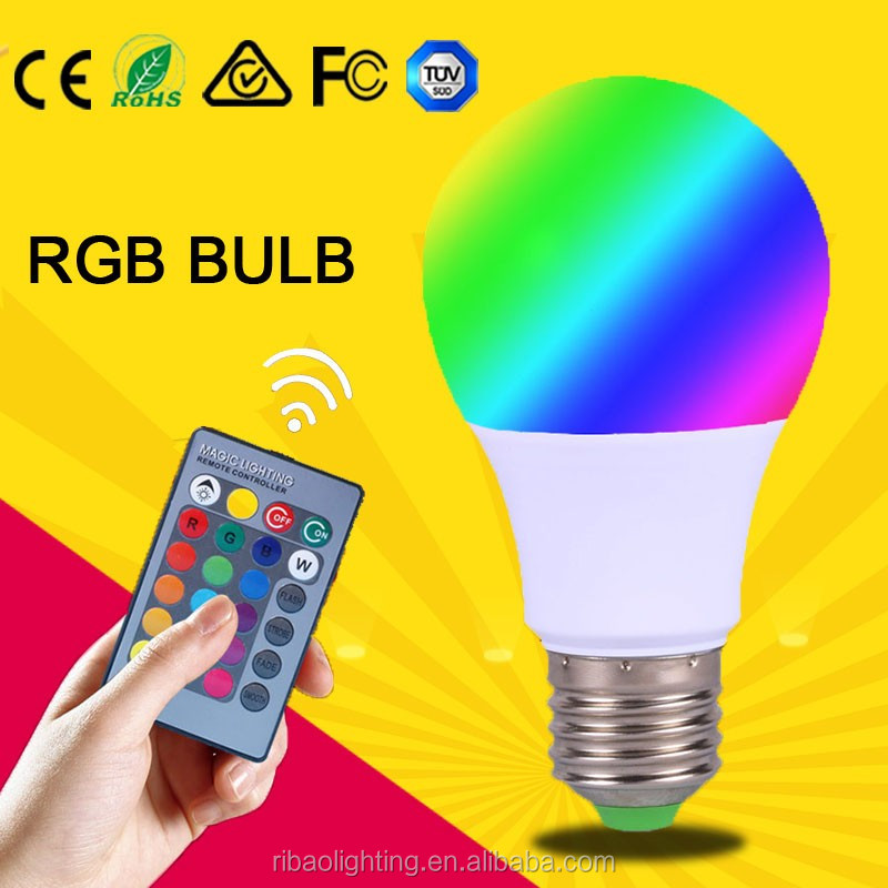 e27 remote control 16 color rgb led bulb <strong>light</strong>