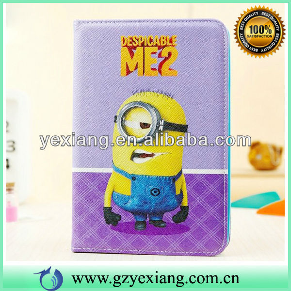 Despicable Me 2 PU Leather For Ipad Mini Tablet Flip Case Cover