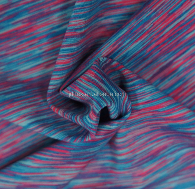 wholesale stock space dye dri fit fabric for t shirt