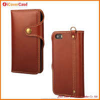 Hot Selling Products Top Genuine Leather Mobile Phone Flip Cover For iPhone 5 5s