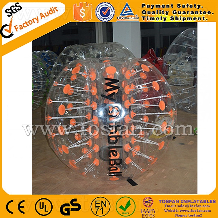 Best seller custom bubble football inflatable body zorb ball TB255
