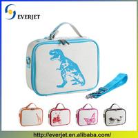 Hot selling fitness lunch bag wholesale cotton linen insulated cooler bag
