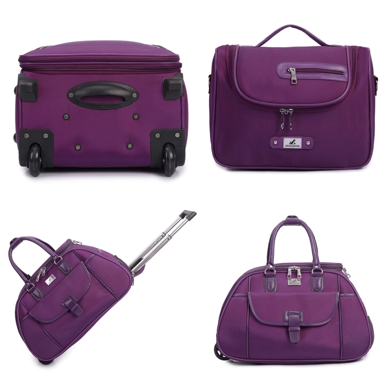 Polyester 4 piece travel bags luggage set