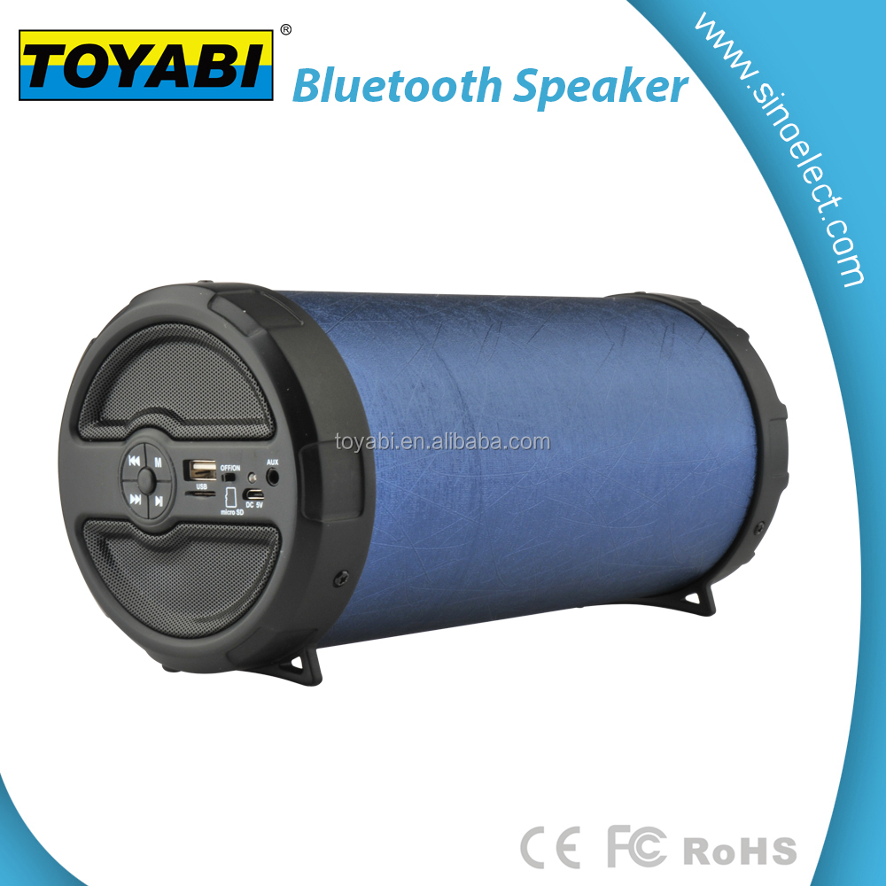 Private mould tube wireless bluetooth speaker built in 1800mAh battery to enjoy long time music for outdoor use