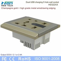 110v 240v power outlet socket with night light and touch switch