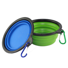 Large size 1000ML travel pet bowl silicone collapsible dog bowl