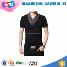 High quality v neck longline t shirt men design your own t shirt black short sleeves summer t shirts wholesale polyester cotton