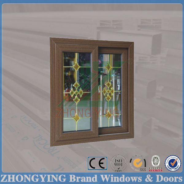 American standard wooden color upvc sash windows