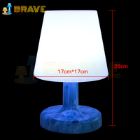 Modern battery wireless LED table lamp for home decoration