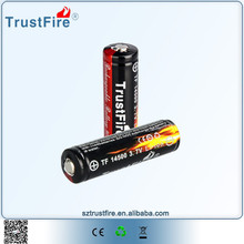 TrustFire rechargeable lithium aa battery / li-ion battery 14500 / aa lithium battery 3.6v