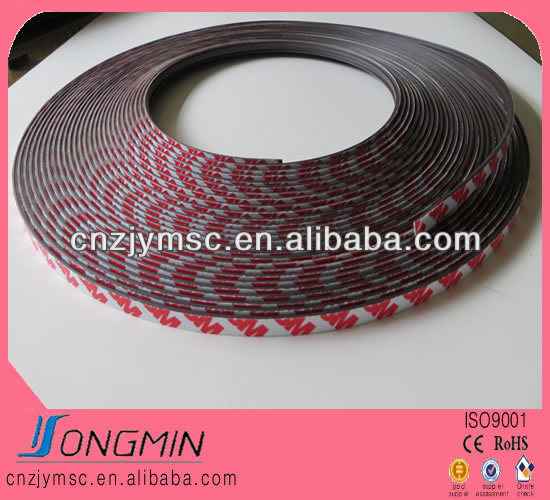 flexible extrusion 3m self adhesive roll magnetic strip