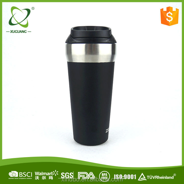 Magic cup mighty mug insulated cup thermal push not pour mug with leak-proof lid