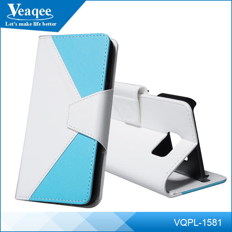 Veaqee 5.7 inch pu leather mobile phone case for samsung galaxy s6 edge +