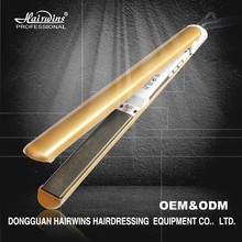 Factory gold MCH heater fat iron hair straightener swivel power cord professional hair machine