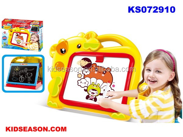 KIDSEASON 2 IN 1 THE COW DOUBLE-SIDED DOODLE DRAWING BOARD TOYS