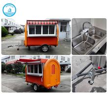 Combination mobile food cart for wholesale hot dog/mobile food trailer food cart cooking trailer