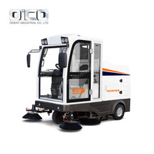 E800LD Dust Cleaning Machine Battery Powered Floor Sweeper Ride-on Floor Sweeper With Self-discharging System