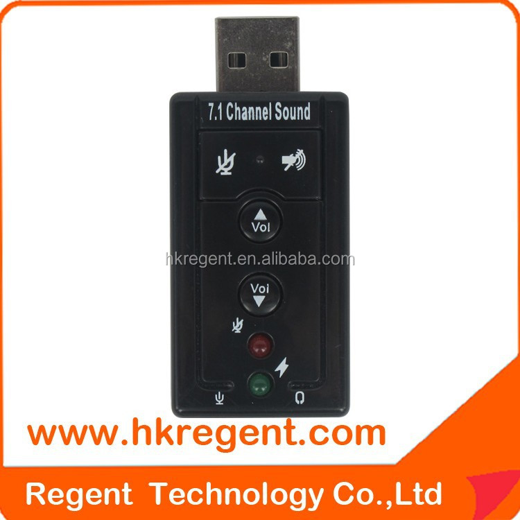 Hot sell USB Virtual 7.1 creative usb sound card