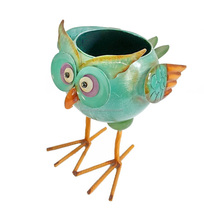 metal owl outdoor Flower Pot Planter