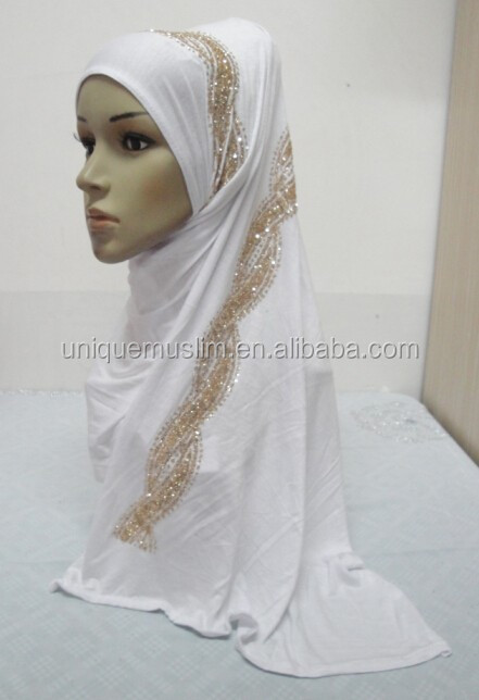 JL083 latest cotton jersey scarf with sequins glitters