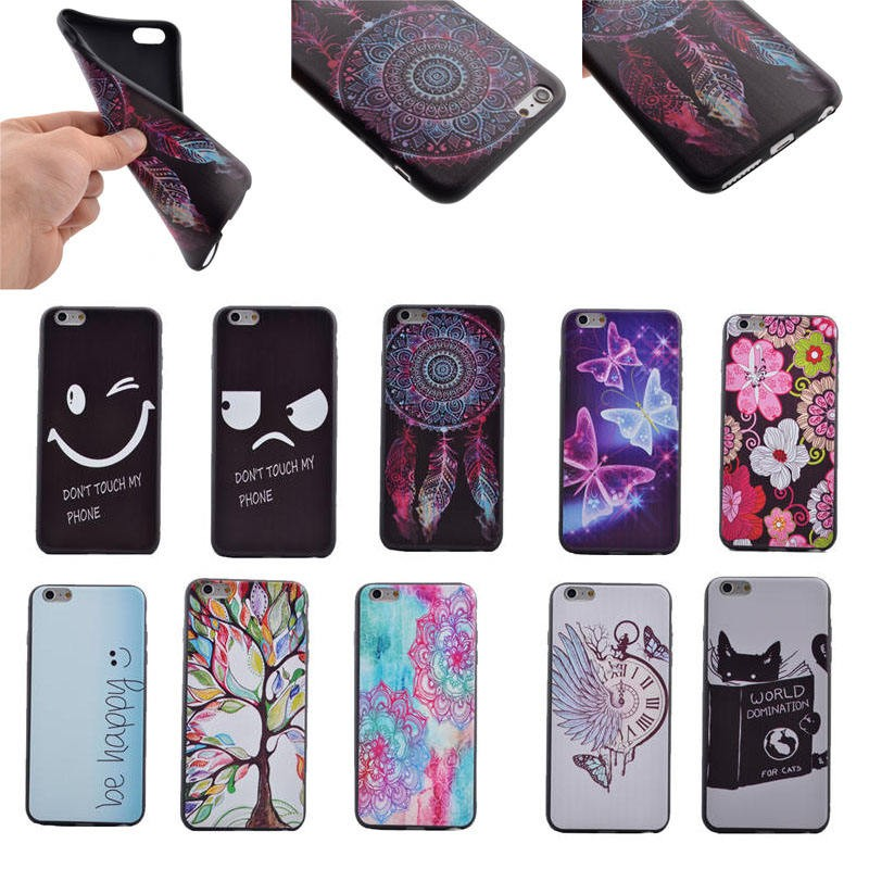 Colorful Custom tpu back cover cellphone case for iphone 6