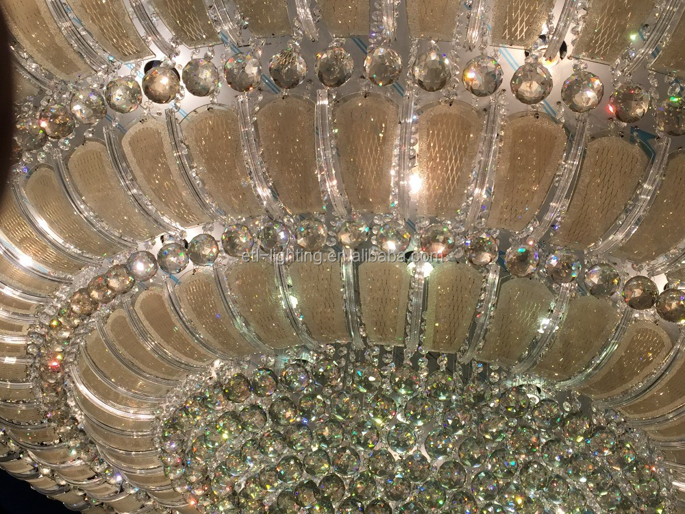 crown shape modern crystal ceiling lamps for wedding center ETL60039